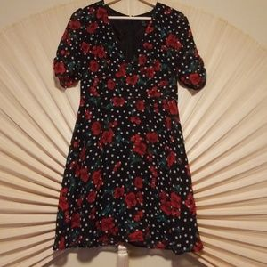 Forever 21 Polka Dot Floral Dress